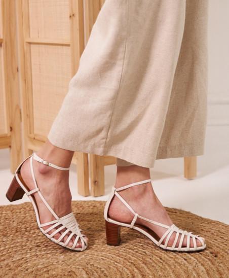 Sandales Brune - Blanc