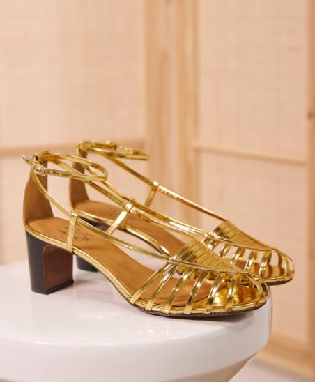 Sandales Brune - Gold