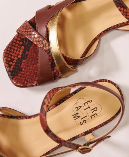 Sandales Servane - Marron Or