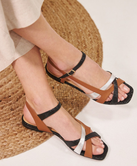Sandales Servane - Noir Argent