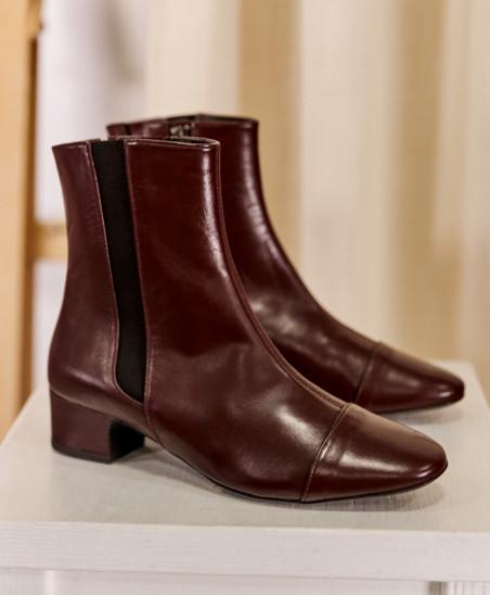 Chelsea Boots Laure - Bordeaux
