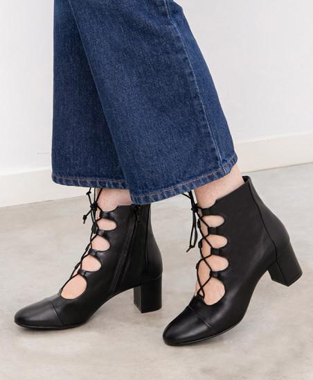 Boots Justine - Cuir Noir