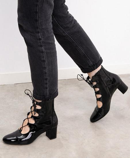 Boots Justine - Vernis Noir
