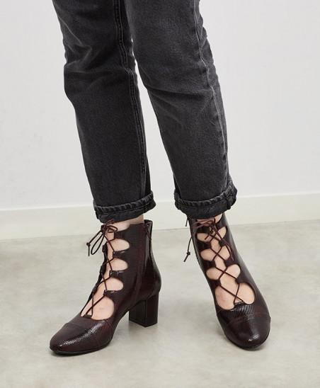 Boots Justine - Bordeaux Tejus