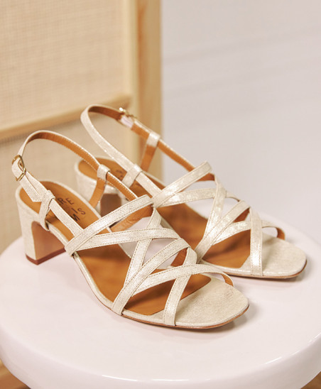 Sandales Maryse - Velours Or
