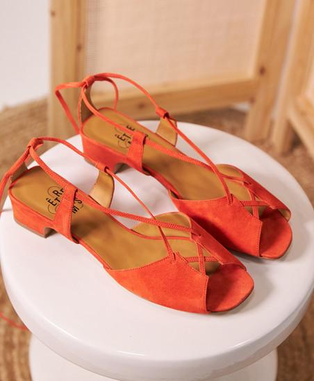 Sandales Marie - Corail