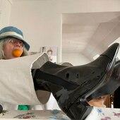 Merci @sophiefontanel 🍊 😊  #lejeudelamode #sophiefontanel #fonelleamisça #bottines #cuir #vernis #vernisnoir #boots #chaussuresdujour #ootd #fashionstyle #chaussures #chaussuresfemme #etreamiscollections #etreamischaussures #merci #chelseaboots #onparledemode