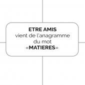 {Notre nom} 👯Comme le mot MATIERES qui se transforme en ETRE AMIS en changeant de place les lettres, nous créons nos #chaussures et notre #maroquinerie avec des cuirs existants, que nous mixons avec notre personnalité.  👉🏻Pourquoi ?  Pour des créations anti-gaspi et la revalorisation de magnifiques matières premières   🤝Nos valeurs : Le nom ETRE AMIS véhicule aussi nos valeurs et évoque les liens de proximité et de confiance que nous tissons chaque jour avec vous   ___________ #etreamis #histoire #amitié #anagram #createurfrancais #joueraveclesmots